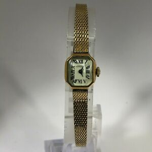 Vintage Girard Perregaux Womens Manual Wind Up 10K Gold Filled Analog Wristwatch