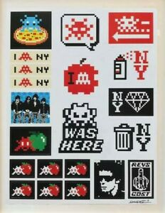 INVADER-Lithograph-Kit-Stickers-Print-Signed-  SPACE Box Limited banksy obey