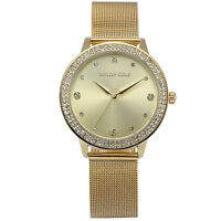 Taylor Cole Fashion Women's Crystal Stainless Steel Band Round Dial Wrist Watch