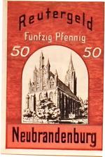 1921 Germany NEUBRANDENBURG 50  Pnennig  Notgeld / Banknote
