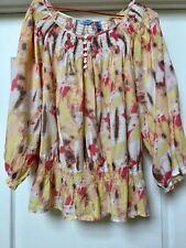 Izod Cotton peasant blouse top Multicolors , Size 1X.  NWOT