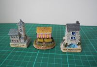 Resin Miniature House Figurines Decorative Set of 3