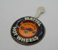 Redline Hotwheels Button Badge Metal Hong Kong Lotus Turbine R17135