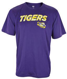 Outerstuff NCAA Men's LSU Tigers Dri-Tek Short Sleeve Shirt - Purple