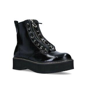 BNIB DKNY RHI WOMEN'S BLACK LEATHER BIKER ANKLE BOOTS UK 6 US 8.5 EU 39 RRP £150