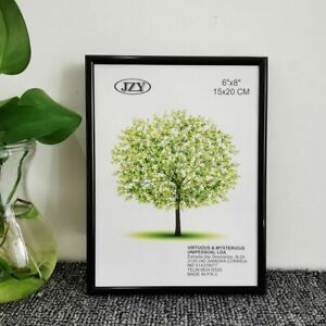 Classic Aluminum Picture Frame For Wall Hanging With Plastic Glass Home Decor