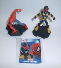 DISNEY INFINITY 2.0 Marvel Spider-Man & Nova Character Figure With Code Card New