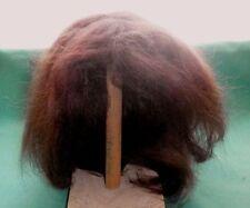 "Peluca de Muñeca Rojo Oscuro mohair de 11"" a 11.5""/el pelo largo"