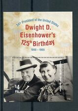 Palau 2015 MNH Dwight D Eisenhower 125th Birthday 34th US President 1v S/S