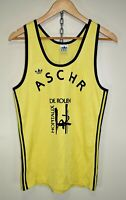 ADIDAS VINTAGE RUNNING VEST SINGLET 70s 80s RARE MADE IN FRANCE TREFOIL size S/M