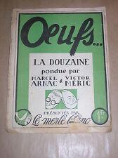RARE REVUE / LE MERLE BLANC / OEUFS / MARCEL ARNAC & VICTOR MERIC / ANNEES 30