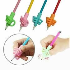 3x Children Ergonomic Posture Correction Training Grip Pencil Holder Practical