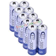 10x Aa 3000 Mah 1.2 V Ni-mh Batería Recargable Bty Celular Para Mp3 Rc Juguetes Cámara