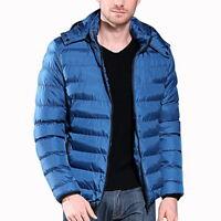 NEW Men's Slim Fit Parka Winter Hooded Puffer Jacket  Large Size Cotton Coat