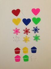 120x Martha stewart Punch Pieces Of Heart,Snowflacks or  Cup Cakes with 6 Colors