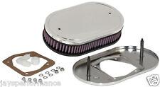 56-1651 Filtro aria K&N Custom Kit Per Singolo & Doppio Barile Carbs