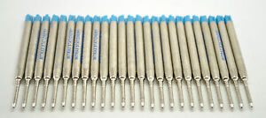 25 Blue Mitrax brand ballpoint refills 0.8mm point compatible with Parker pens.