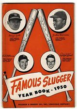 "1950 ""FAMOUS SLUGGER"" YEAR BOOK LOUISVILLE SLUGGER JACKIE ROBINSON&TED WILLIAMS"