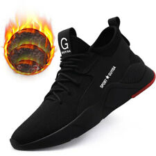 Men Winter Warm Fur Lined Steel Toe Work Safety Sneakers Boots Shoes Lightweight