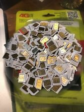 500 Used Micro SIM Cards Bulk ~ Gold Recovery ~ Scrap Gold