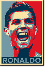 Cristiano Ronaldo art photo print (Obama Hope) Poster Cadeau Taille soccer