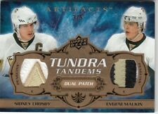 2008/09 UD ARTIFACTS TUNDRA TANDEMS PATCHES SIDNEY CROSBY , EVGENI MALKIN /5