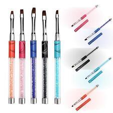 5pcs UV Gel Acrylic Crystal Design Builder Nail Art Brush Pens Set for Salon US