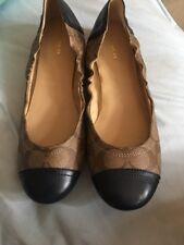 Authentic Coach Callie Ballet Flats , Shoes 9b Navy Blue Leather