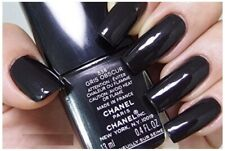 Chanel nail polish 538 gris obscur rare limited edition Black Glittery