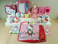 Hello Kitty Lot of Toys~Figurines~Key Chain~Hair Ornaments~Tin Bank~Tote~Pouches