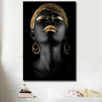90CM African Lady Poster Abstract Canvas Painting Wall Print Home Xmas