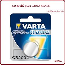 Terreno 50 pilas de botón CR2032 3V litio Varta