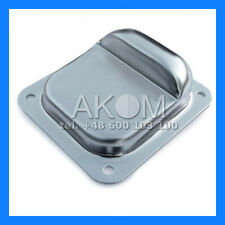Swing gate stop CENTER to screw - Galvanized steel - LARGE H: 50mm