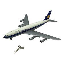 """Vintage Schuco Lufthansa   Boeing 707 Wind-up Model - 1024 - 10"""" Length -1:191"""