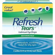Refresh Tears Lubricant Eye Drops 4 x 15 mL Multi-Pack + Bonus Bottle