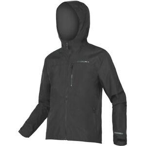 Endura SingleTrack Waterproof Cycling Jacket II SIZE LARGE MATT BLACK =