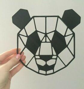 Geometric Panda Face Wall Art Decor Hanging Decoration Origami Style