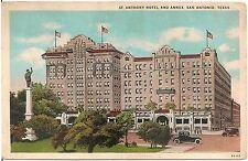 St. Anthony Hotel and Annex in San Antonio TX Postcard 1928