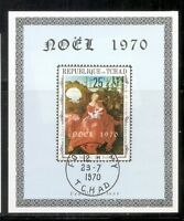 Chad SC # 227 Christmas 1970. Souvenir Sheet .MNH