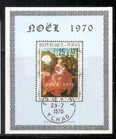 Chad SC # 227 Christmas 1970. Souvenir Sheet .MNH