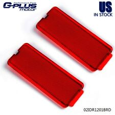 2pcs Ford 99-07 SuperDuty Front or Rear Red Door Reflector F250 F350 F450 F550