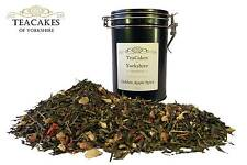Green Loose Leaf Tea Golden Apple Spice 100g Gift Caddy Best Quality