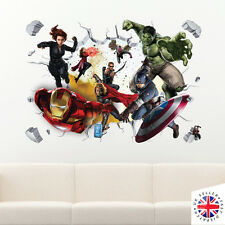 Vinilo Pegatina de Pared 3D Los Vengadores Avengers Ironman Thor Hulk Capitán América Antman