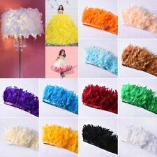 DIY Turkey Feather Fringe Ribbon Trim Wedding Stage Decor Craft Sewing 26-Colors