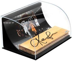 KEVIN LOVE Autographed Cavaliers NBA Game Used Floor Curve Display UDA