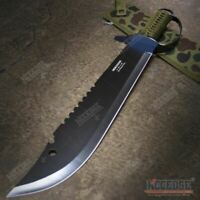 "19.5"" FULL TANG HUNTERS CHOPPING SWORD Sawback Fixed Blade Machete with Knuckle"