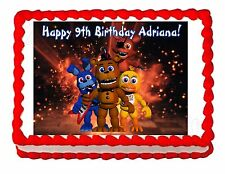 Five nights at Freddy's FNaF 2 party edible cake image topper frosting sheet