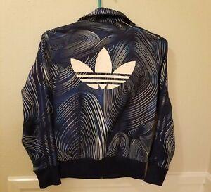 Adidas Track Jacket Women's M Blue