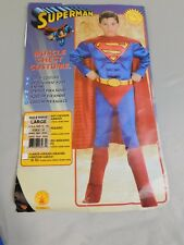 Superman Boys Muscle Chest Halloween Costume No Belt Child 12-14 Large #5683