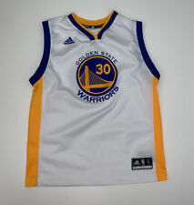 Boys Steph Curry Golden State Warriors Adidas Jersey Size Youth Large White